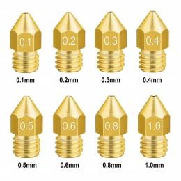 Сопло для 3D принтера — MK8 (0,2мм 0,3мм 0,4мм 0,5мм, 0,6мм, 0,8мм)