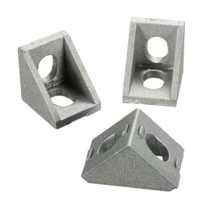 Угол алюминиевый 20х20 для станочного профиля 2020, 20х20