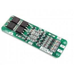 BMS контроллер 3S 20A плата заряда защиты 3x Li-ion 18650 12.6V