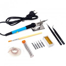Паяльный набор (YG-970) паяльник 220V 60W олово пинцет кисть подставка