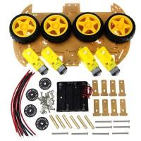 Car машина платформа для робота 4WD Arduino, автомобильное шасси