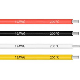 Кабель термостойкий силиконовый многожильный гибкий 12AWG (стоимость за 10 см)