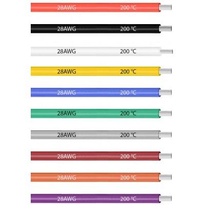 Кабель термостойкий силиконовый многожильный гибкий 28AWG (стоимость за 10 см)