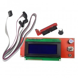 LCD 2004 дисплей для 3D принтера, экран с SD ридером  для RAMPS 1.4