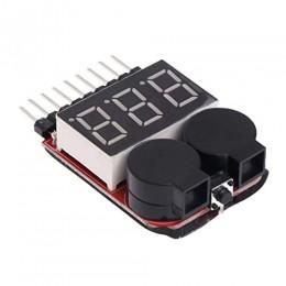 Модуль тестер контроля уровня заряда LiPo аккумуляторов до 8S