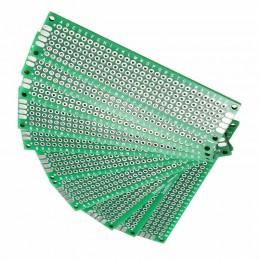 Макетная плата двухсторонняя 20х80мм (2х8см) стеклотекстолит