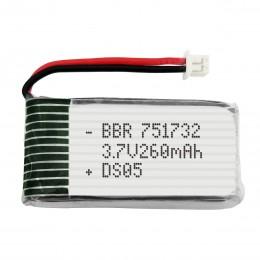 LiPo 3.7V 260 mAh Литий-полимерный аккумулятор, батарея 751732