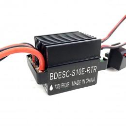 Контроллер скорости регулятор щеточного мотора ESC BDESC-S10E-RTR 90A (300А) с тормозом для RC машины, лодки, танка. С соотношением реверса 1/2