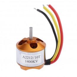 A2212 1400KV бесколлекторный двигатель (аутраннер, мотор). 3.17 мм диаметр оси.