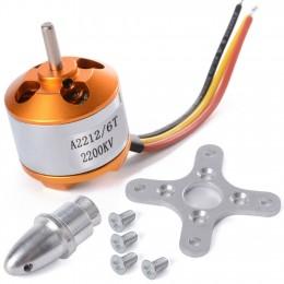 A2212 2200KV бесколлекторный двигатель (аутраннер, мотор). 3.17 мм диаметр оси.